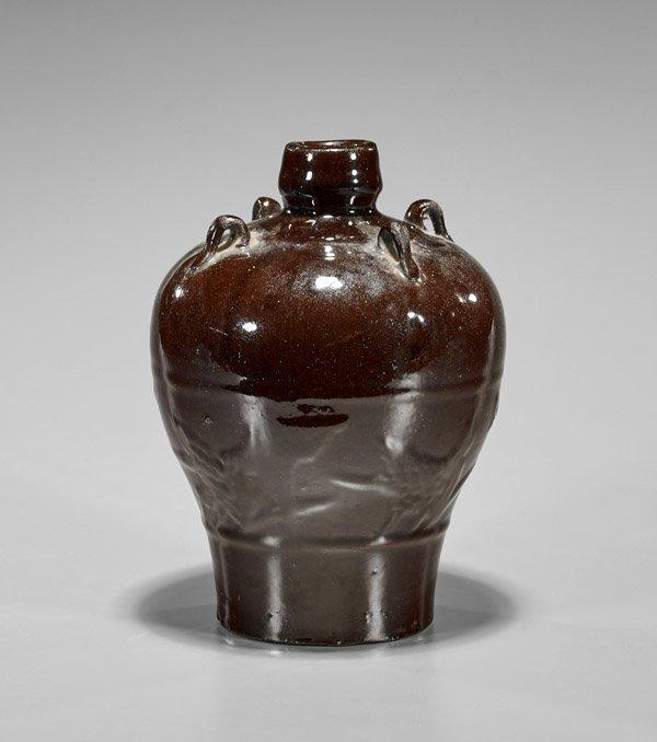 Jin Dynasty Henan Brown Glazed Vase