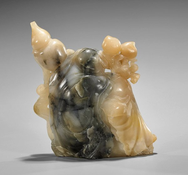 Chinese Carved Soapstone Lohan - 2