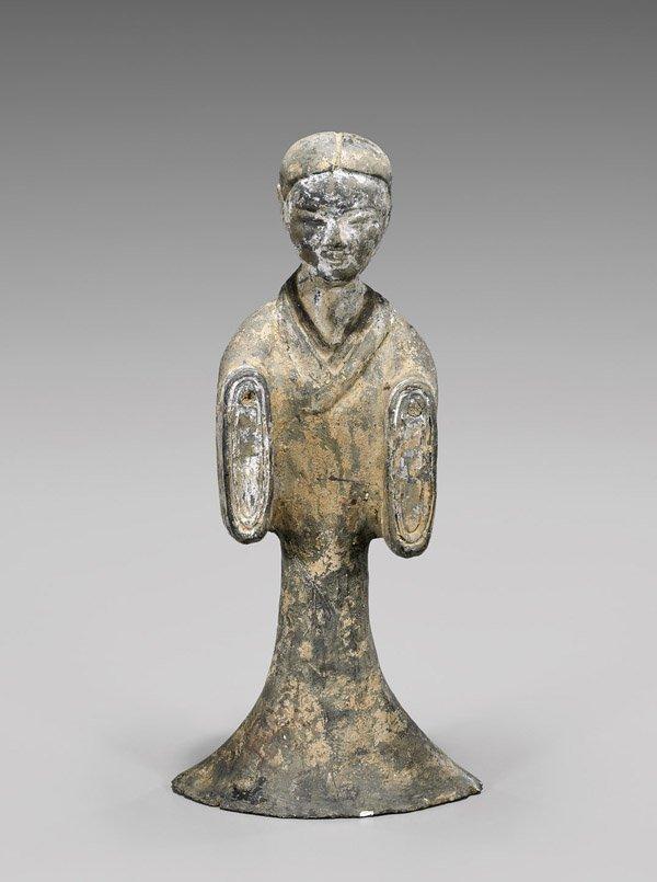 Tall Han Dynasty Pottery Lady