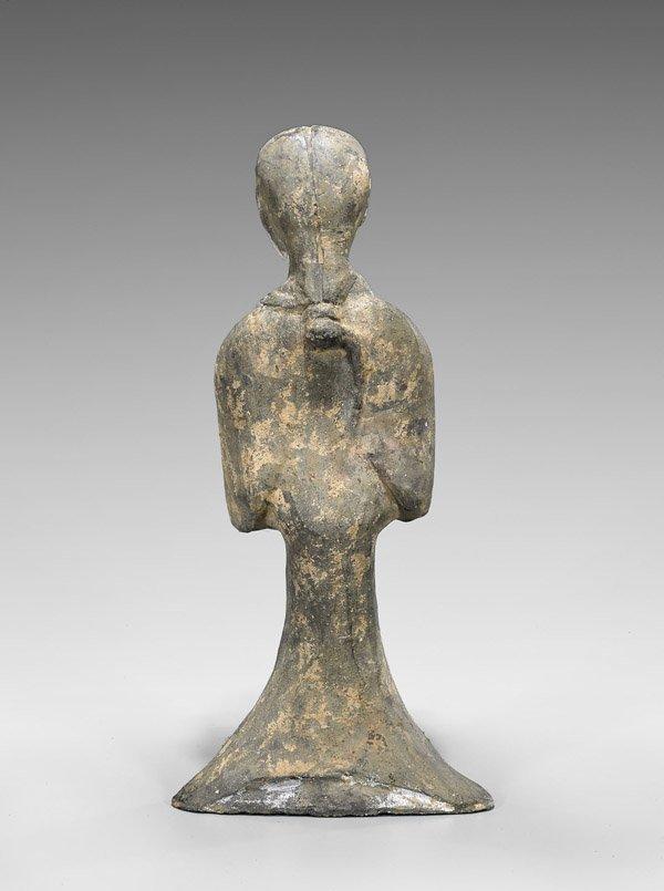 Tall Han Dynasty Pottery Lady - 2