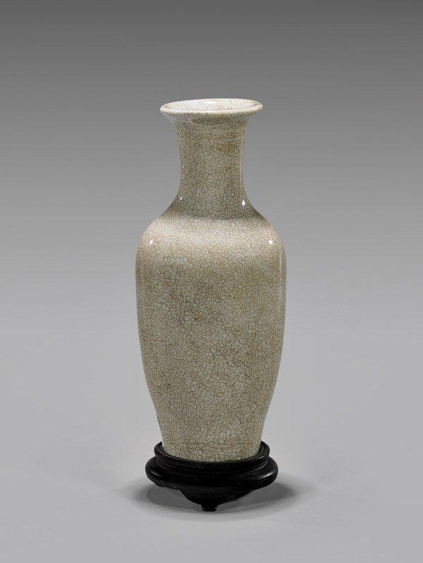 Antique Chinese Anhua & Crackle-Glazed Vase