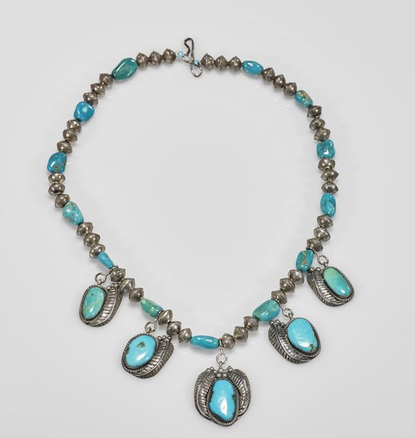 Native American Turquoise & Silver Necklace