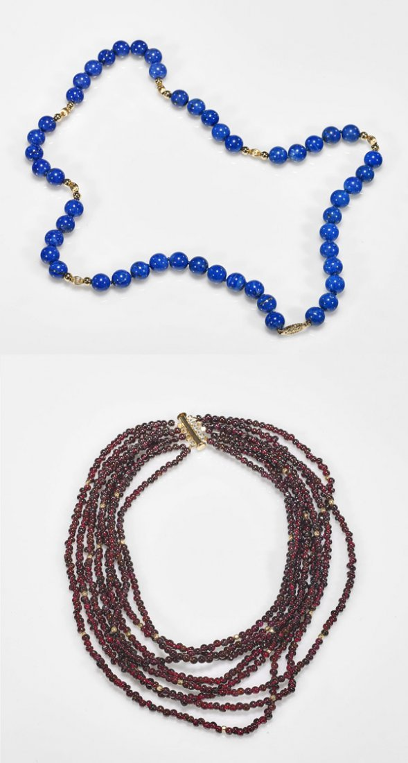 Two Polished Bead Necklaces