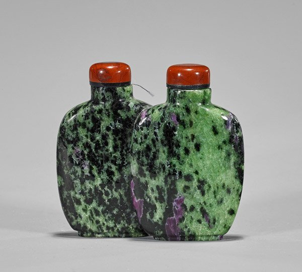 Ruby Zoisite Double Snuff Bottle