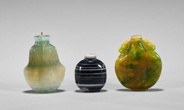 Four Carved Hardstone Snuff Bottles - 4