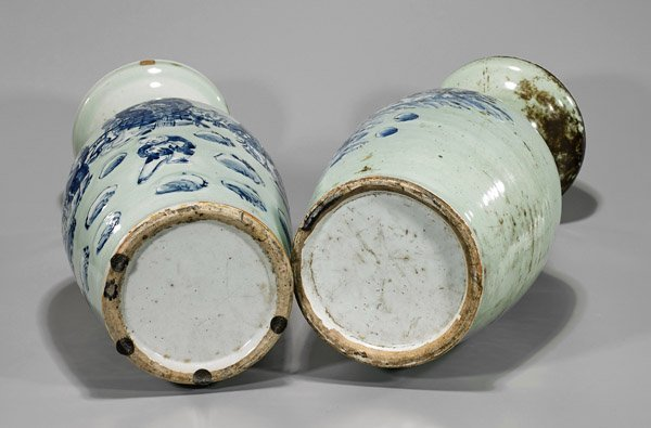 Pair Antique Chinese Porcelain Vases - 2