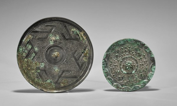 Two Chinese Early-Style Bronze Mirrors