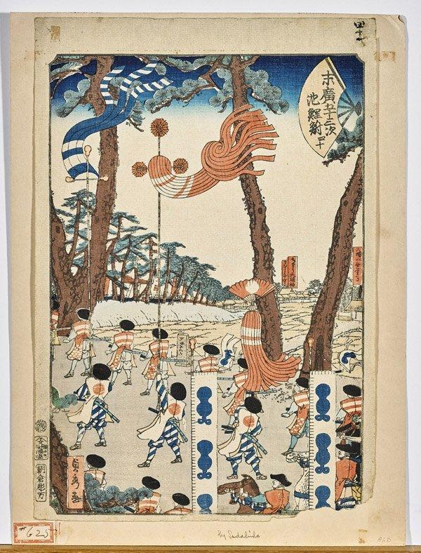 Three Japanese Woodblock Prints by Utagawa Sadahide