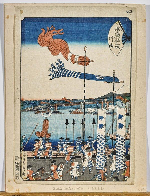 Three Japanese Woodblock Prints by Utagawa Sadahide - 3