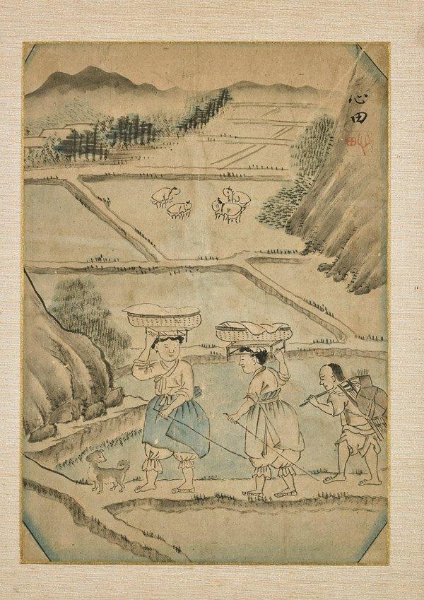 Two Old Korean Paintings: Rural Scenes - 3