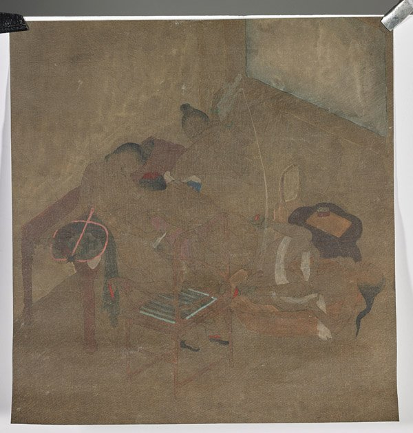 Four Chinese Silk Paintings: Erotic - 4