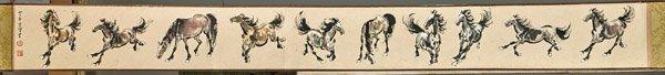 Chinese Paper Handscroll: after Xu Bei Hong