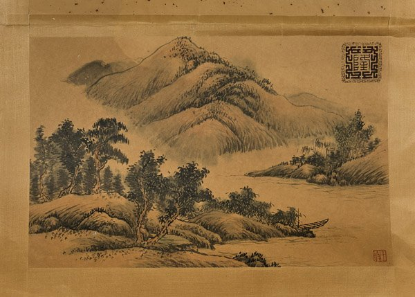 Six Chinese Paper Unmounted Paintings - 3