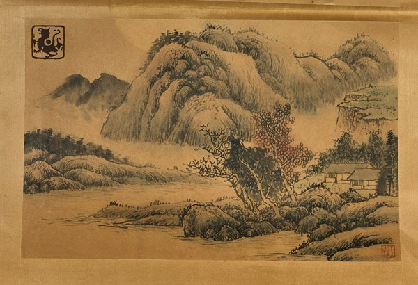 Six Chinese Paper Unmounted Paintings - 4