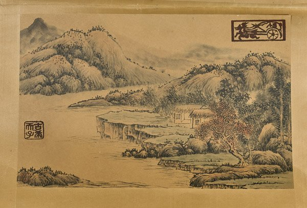 Six Chinese Paper Unmounted Paintings - 5