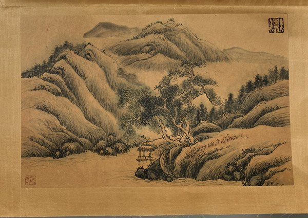 Six Chinese Paper Unmounted Paintings - 6