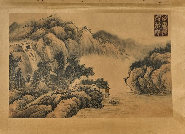 Six Chinese Paper Unmounted Paintings - 7