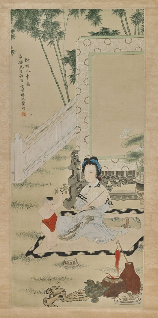 Two Chinese Paper Scrolls: Figures - 4
