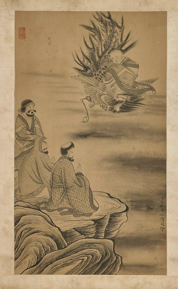 Three Chinese Scrolls: Figures - 3