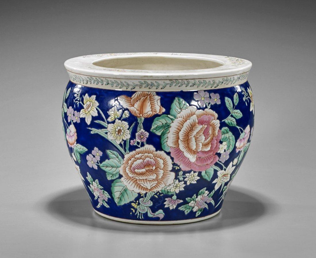 Old Chinese Porcelain Fishbowl