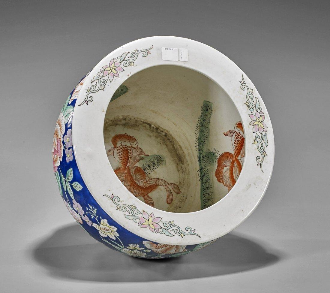 Old Chinese Porcelain Fishbowl - 2