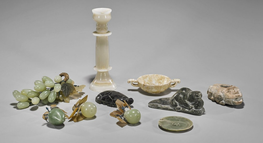 Group of Various Carved Stone Items
