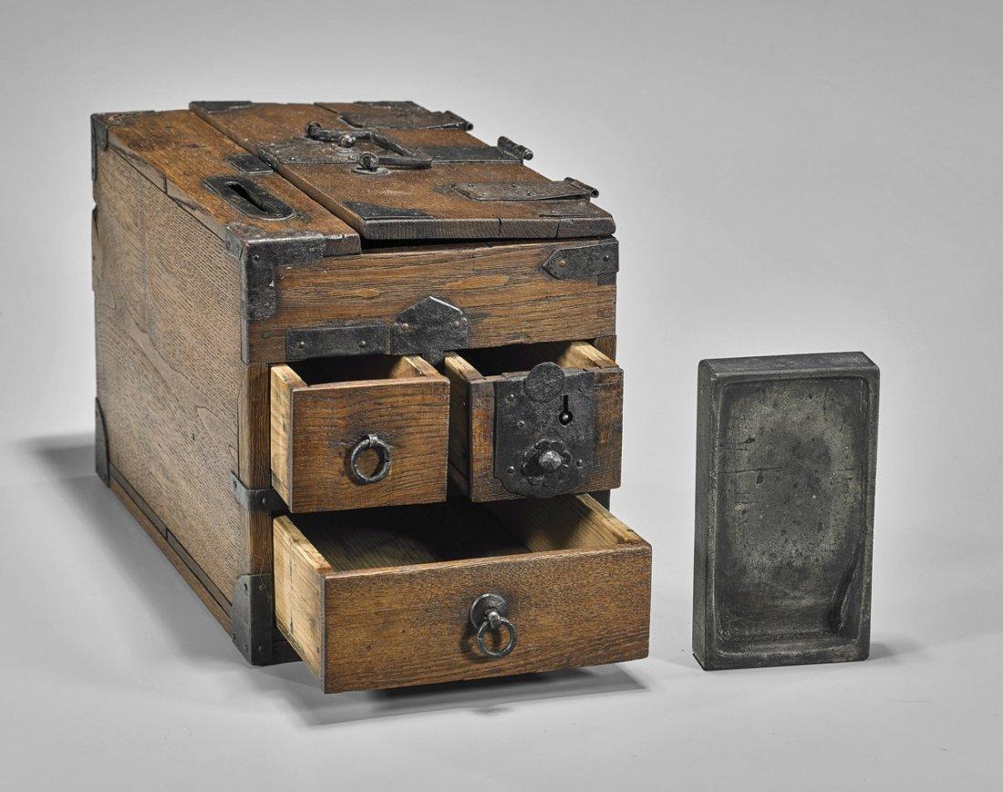 Antique Chinese Wood Writing Box