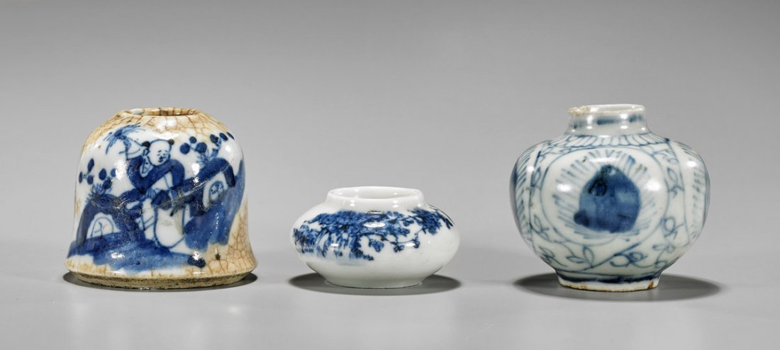Three Antique Chinese Porcelains: Coupe, Jarlet &