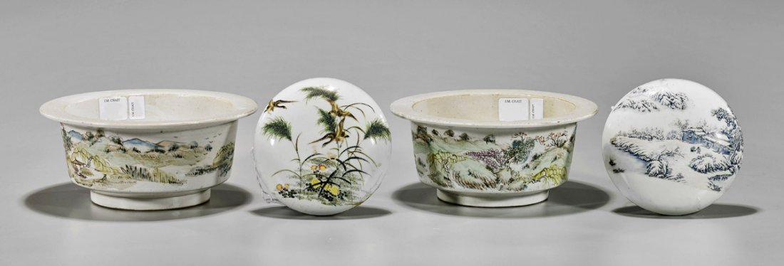 Four Chinese Enameled Porcelains