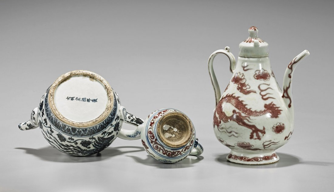 Three Chinese Porcelain Ewers - 2