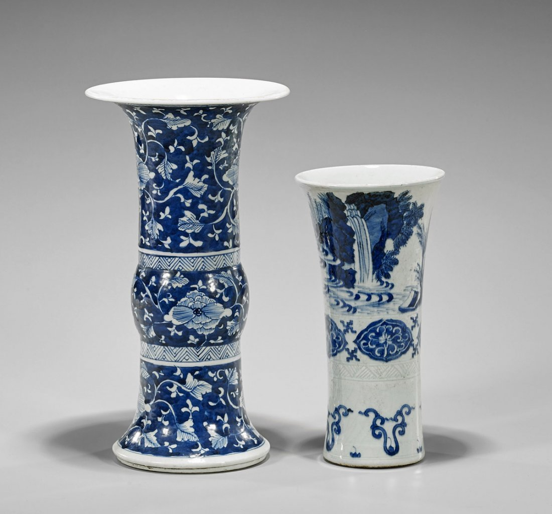 Two Chinese Porcelain Gu Vases - 2