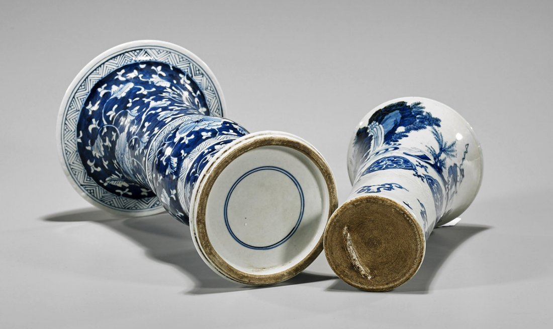 Two Chinese Porcelain Gu Vases - 3