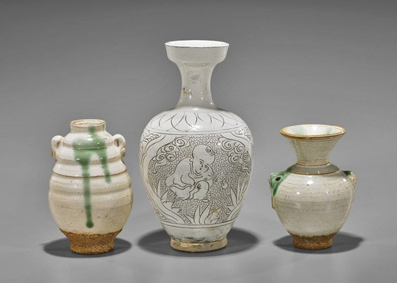 Five Early-Style Chinese Glazed Vases