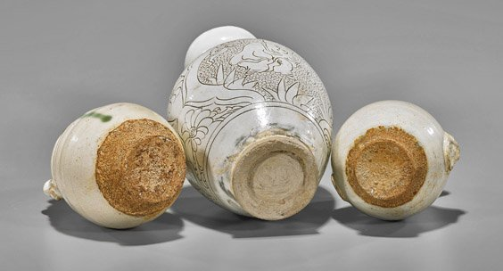 Five Early-Style Chinese Glazed Vases - 2