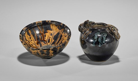 Five Early-Style Chinese Glazed Vases - 3