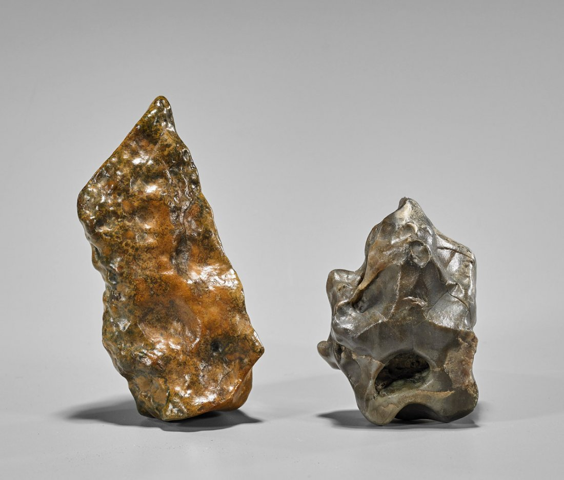 Two Chinese Natural Stone Scholar's Rocks