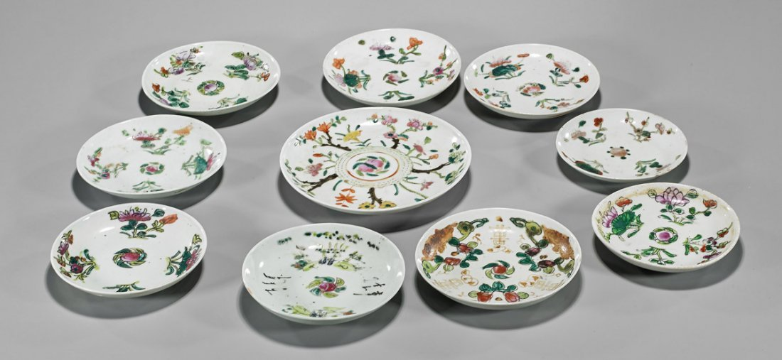 Ten Antique Chinese Porcelain Dishes