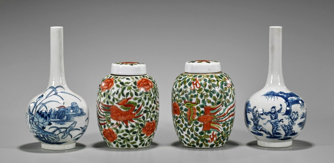 Four Chinese Porcelains: Jars & Vases