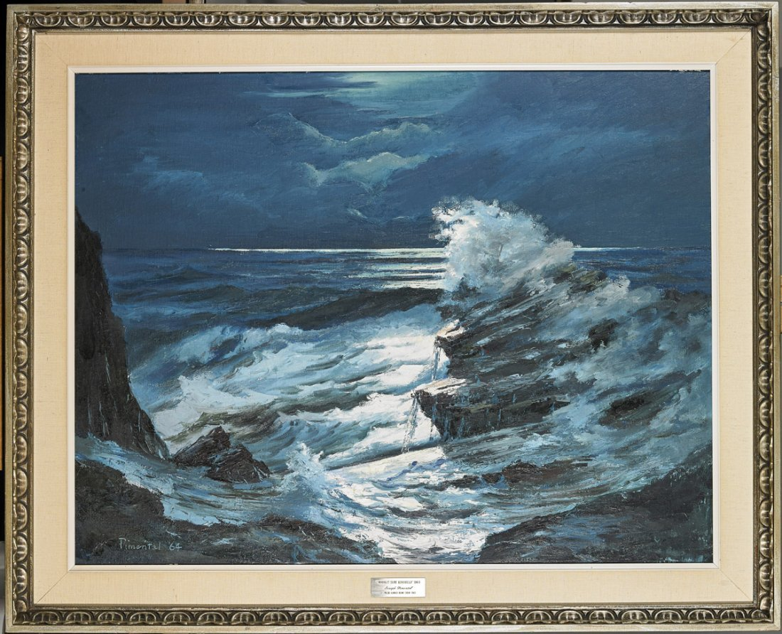 Oil on Canvas Painting by Joseph Pimental: Seascape