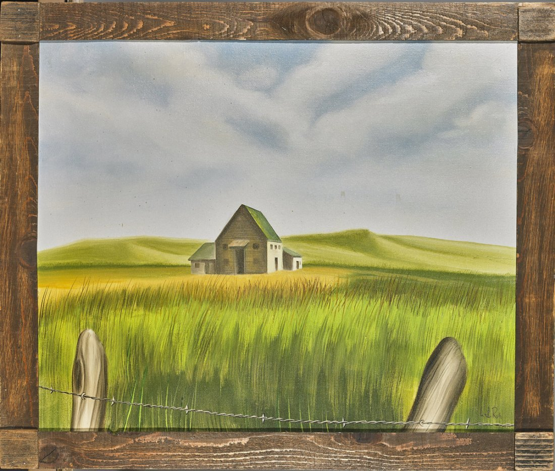Three Oil on Canvas Paintings: Rural Scenes
