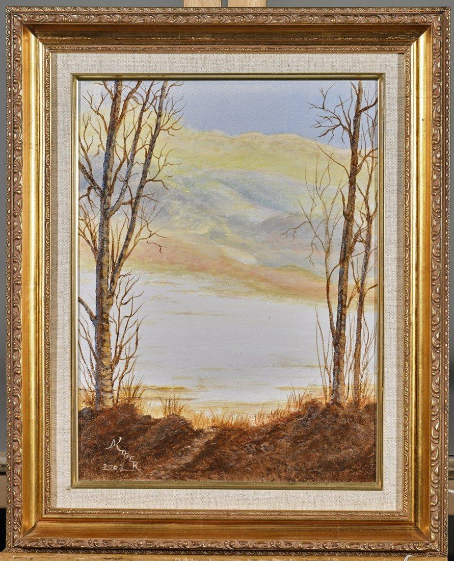 Three Oil on Canvas Paintings: Rural Scenes - 4