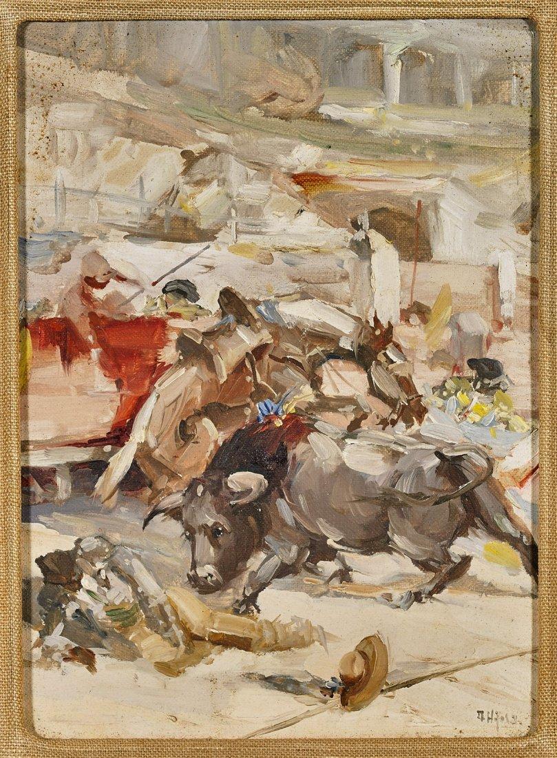 Two Framed Artworks: Horses & Bulls - 2