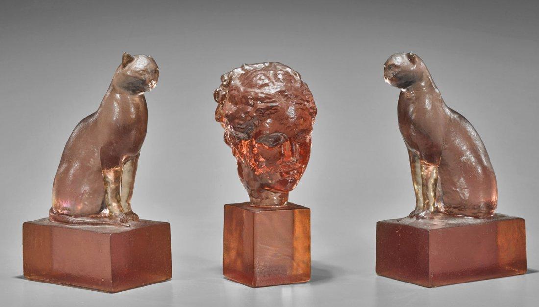 Three Vintage Resin Sculptures by Thorpe