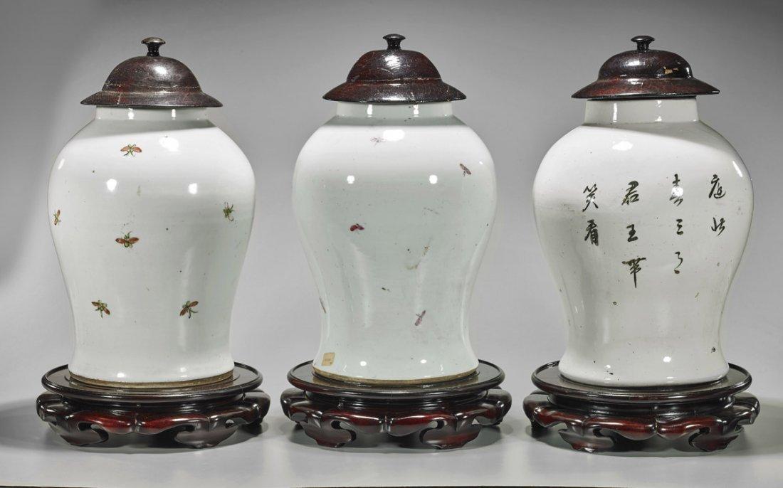 Three Large Chinese Porcelain Baluster Jars - 2