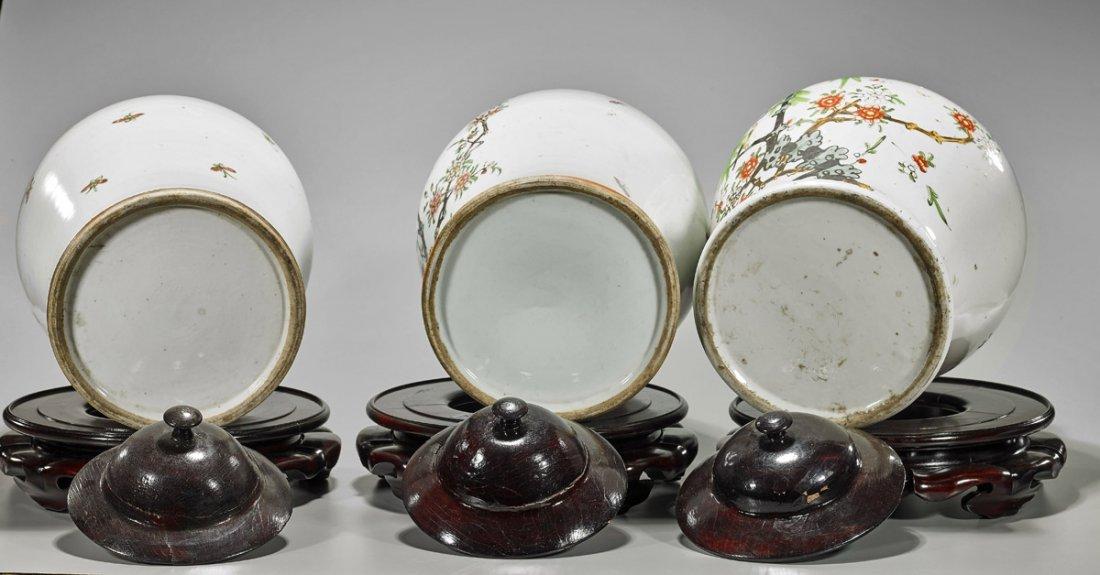 Three Large Chinese Porcelain Baluster Jars - 3
