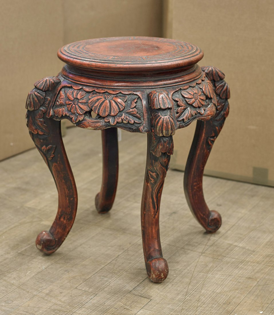 Antique Japanese Lacquered Pedestal