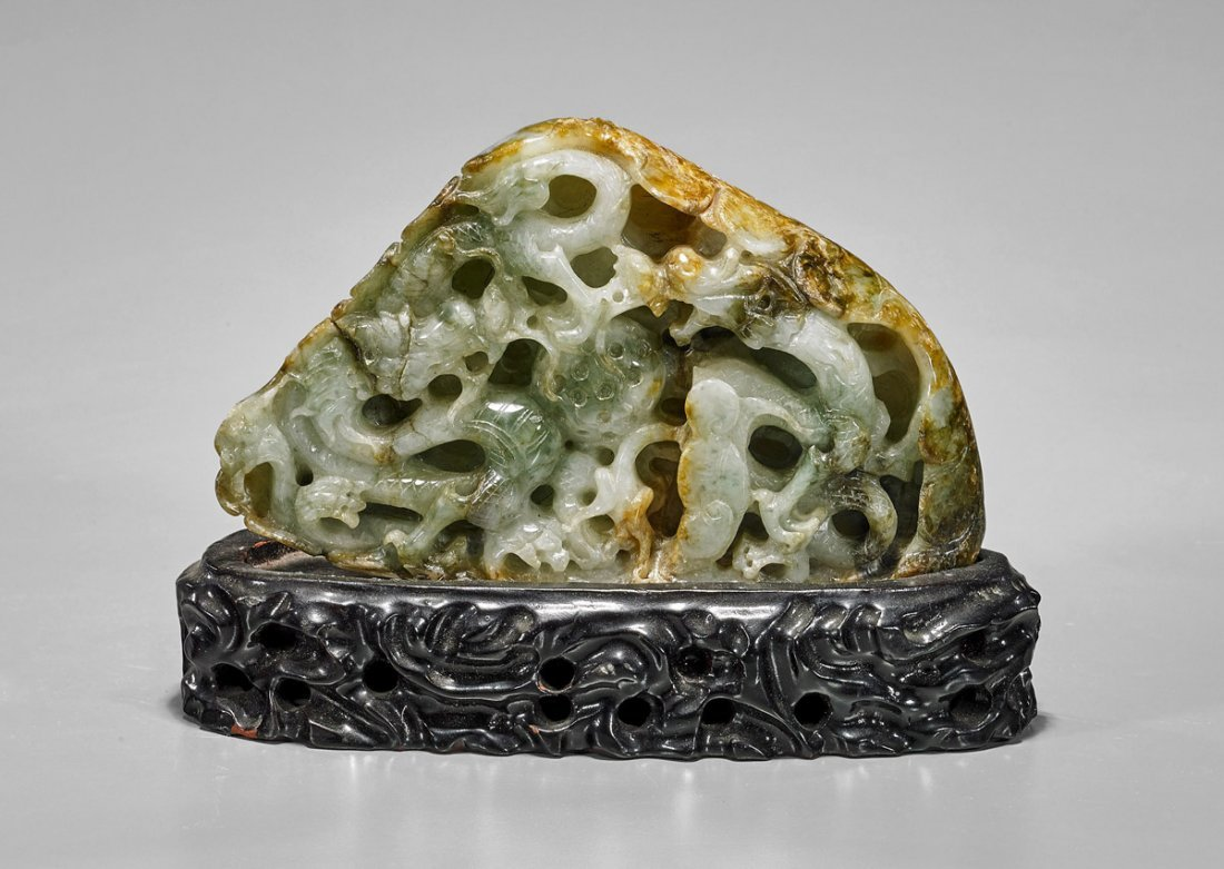 Small Chinese Carved Jade Mountain
