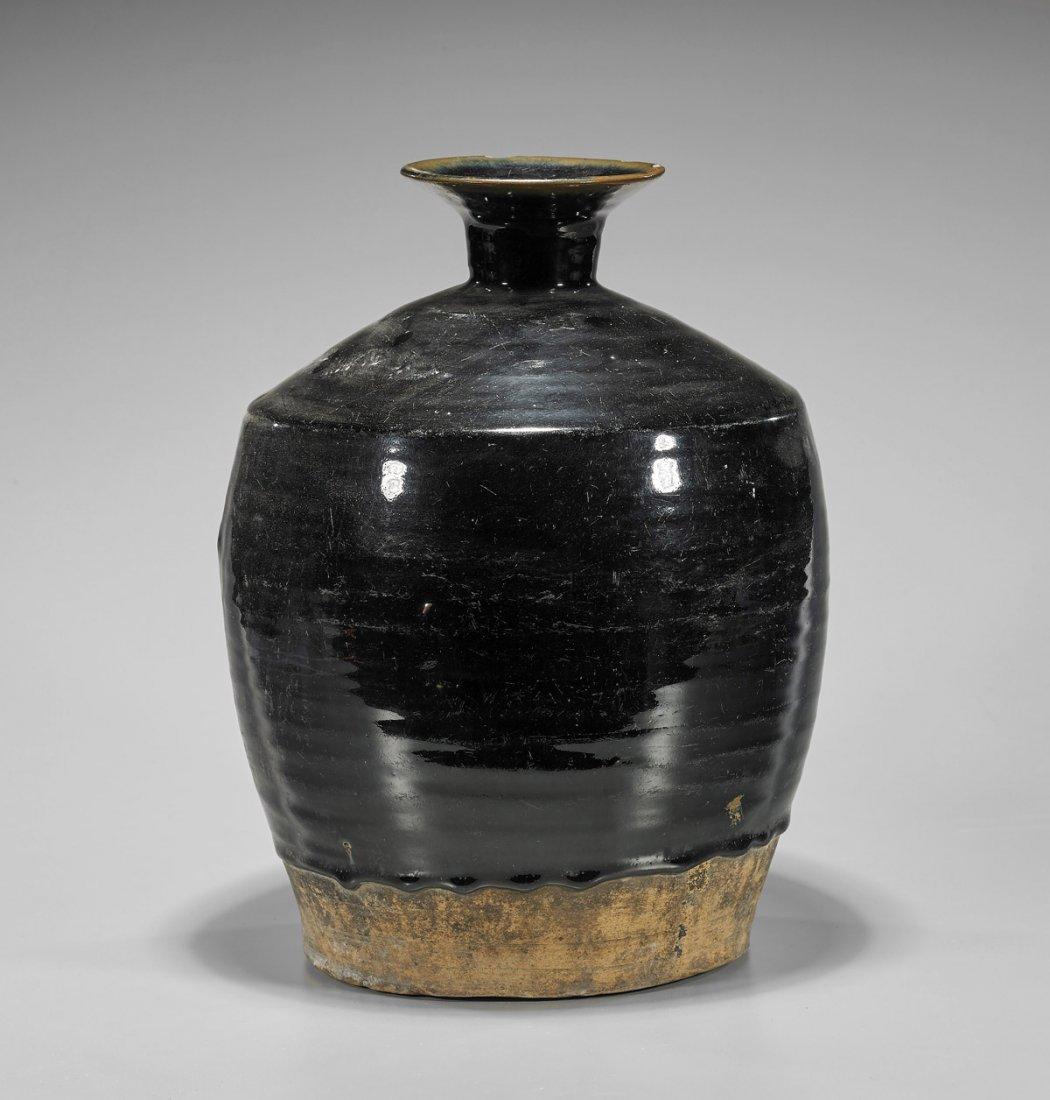 Large Jin Dynasty Henan Glazed Jar