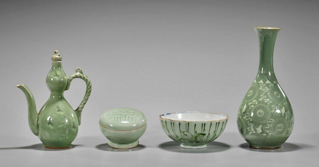 Four Korean Glazed Ceramics