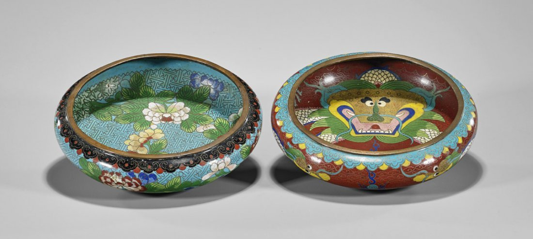 Two Antique Cloisonne Enamel Bowls